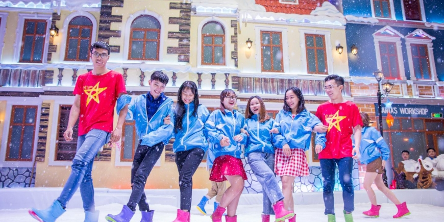Cơ hội đi Đà Lạt miễn phí khi chụp ảnh tại Snow Town