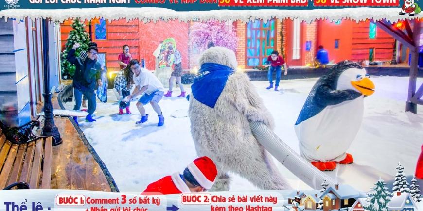 50 vé xem phim BHD + 50 vé Snow Town