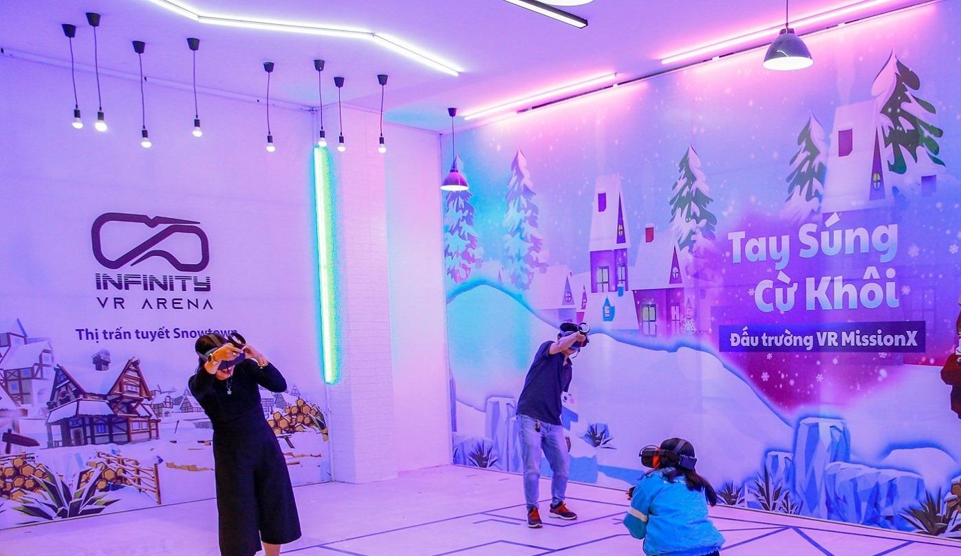 Khu Game VR Đấu trường súng tuyết